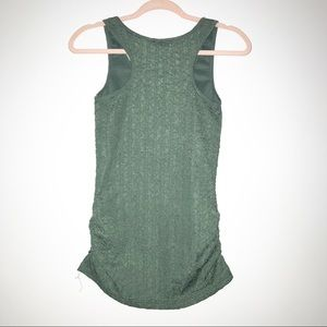 Buckle Tops - BKE Boutique Green Ruched V-Neck Tank Top Small S